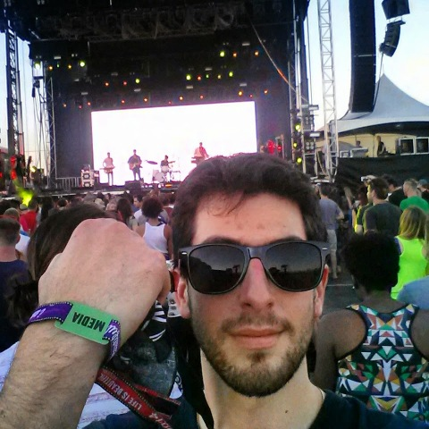 Obnoxious selfie with media wristband. Life is Beautiful, Las Vegas 2013